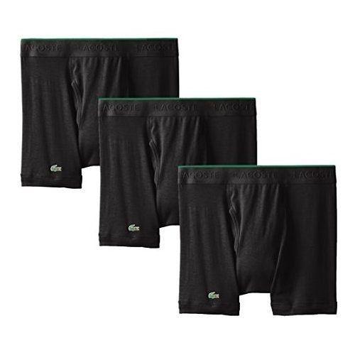 【Lacoste】2015男時尚黑色修飾四角內著3件組(預購)
