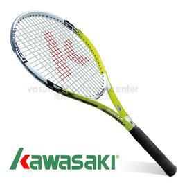 【日本 KAWASAKI】川崎 Power 3D強化鋁合金網球拍(已穿線/附3/4拍套) 綠 KP1200GR