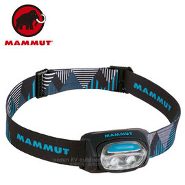 【瑞士 MAMMUT 長毛象】T-Base Headlamp 30流明 輕量化頭燈(僅38g)_黑藍 00321-0001