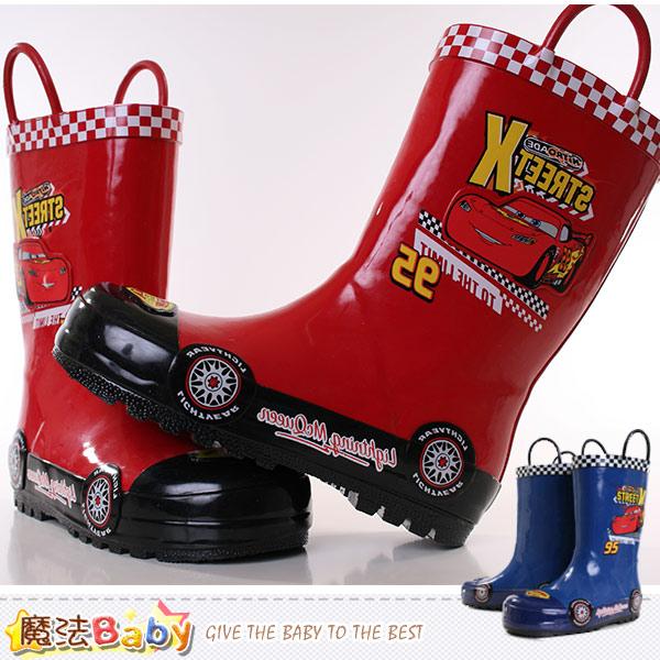 魔法Baby~男童雨鞋 迪士尼閃電麥坤授權正版兒童長靴 sh8916