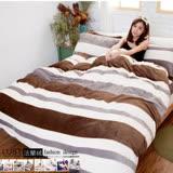 LUST寢具【任選】法蘭絨5尺標準雙人床包/被套組