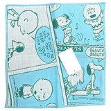 【波克貓哈日網】SNOOPY小方巾◇漫畫圖案◇《26 x 25cm》藍色