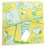 【波克貓哈日網】SNOOPY小方巾◇漫畫圖案◇《26 x 25cm》黃色