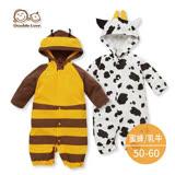 15新品-日本西松屋正品 寶寶 造型長袖連身衣 睡袋兩穿 新生兒服 (50~60碼) 【GD0072】
