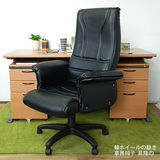 HAPPYHOME CD160HB-03木紋辦公桌櫃椅組Y699-17+Y702-1+FG5-HB-03