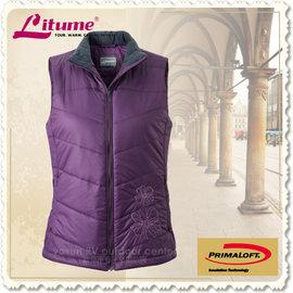 【意都美 Litume】熱賣款 女 Primaloft 頂級超輕量透氣防風保溫棉背心(可機洗) H7036 深紫