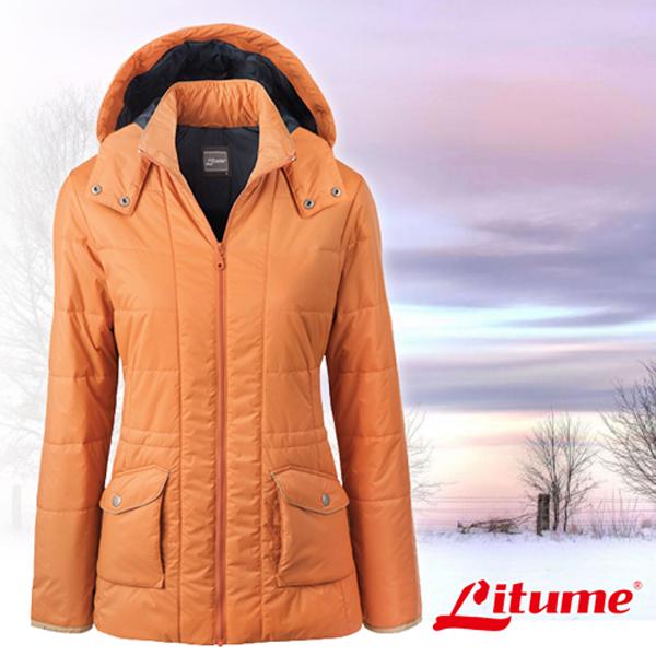 【意都美 Litume】女款 Primaloft 超輕量透氣防風保溫棉外套_ H7058 深桔