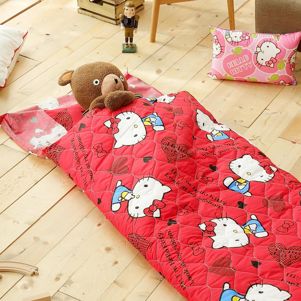 HO KANG 三麗鷗授權 冬夏鋪棉兩用兒童睡袋 加大款- 我是kitty