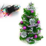 台灣製迷你1呎/1尺(30cm)裝飾聖誕樹(銀紫色系)(+20燈樹燈串)