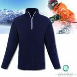 【波萊迪克bolaidike】男款刷毛保暖休閒衣 墨藍-灰褐 TP255