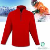 【波萊迪克bolaidike】男款刷毛保暖休閒衣 暗紅-灰褐 TP255
