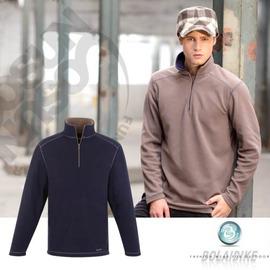 【波萊迪克bolaidike】男款刷毛保暖休閒衣.刷毛衣.輕量.快乾 深丈青-棕 TP256