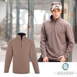 【波萊迪克bolaidike】男款刷毛保暖休閒衣 .刷毛衣.輕量.快乾 棕-深丈青 TP256