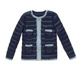 【hilltop山頂鳥】兒童款蓄熱羽絨外套F22CI6-藍/藍