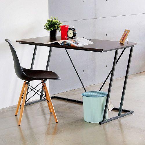 防潑水材質 工業風曲線電腦桌