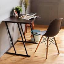 Peachy life<BR>工業風曲線設計寬80電腦書桌(2色可選)