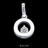 【光彩珠寶】鉑金鑽石項鍊墜飾 心印