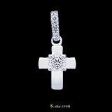 【光彩珠寶】鉑金鑽石項鍊墜飾 守護II
