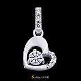 【光彩珠寶】鉑金鑽石項鍊墜飾 真愛
