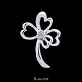 【光彩珠寶】鉑金鑽石項鍊墜飾 幸運草