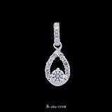 【光彩珠寶】鉑金鑽石墜飾 璀璨