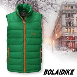 【波萊迪克bolaidike】男新款 立體配色輕量防潑水透氣立領保暖羽絨背心 草綠 TC016