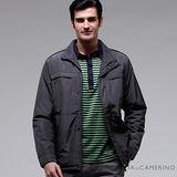 ROBERTA諾貝達 台灣製 超值嚴選 內裡舖棉夾克外套 ROT58-49灰綠色