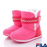 FILA頂級童鞋-時尚暖靴-831P-221粉-(16cm~24cm)