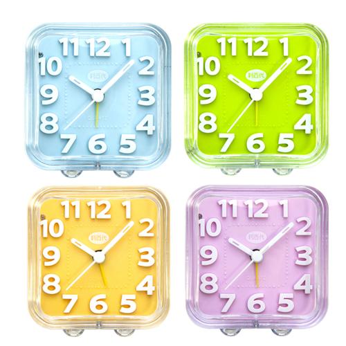 簡約時尚 安心保固 LED夜光粉彩靜音鬧鐘