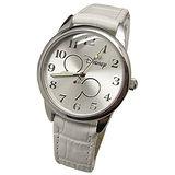 【Disney迪士尼】休閒腕錶---雅緻米奇(白)