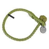 BOTTEGA VENETA 純手工編織單環小羊皮手環(M/淺綠)