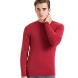 【思薇爾】SOLIS 嚴選棉柔吸濕立領發熱衣(棗紅色)