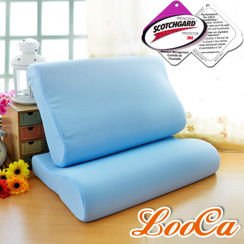 LooCa吸濕排汗記憶枕(二入)