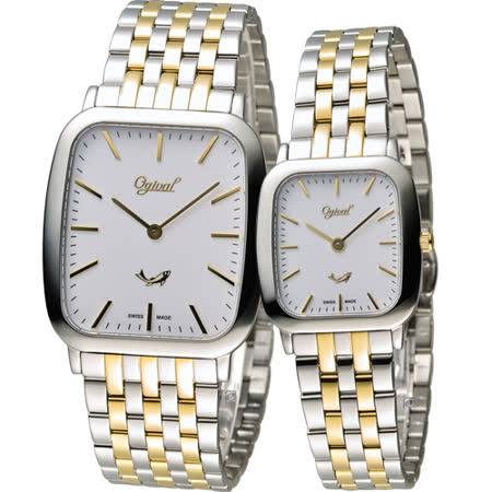 Ogival 愛其華蟬翼系列超薄時尚對錶 393MSK 393LSK 雙色