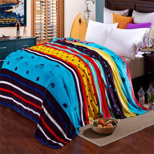 【PS Mall】可愛珊瑚絨升級保暖法蘭絨毛毯毯子 120*200CM  (J389)