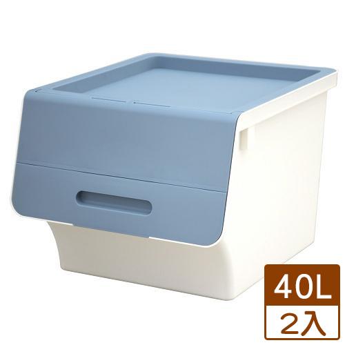 【2件超值組】KEYWAY 鄉村直取式整理箱HB-41-藍(40L)