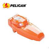 【美國原裝進口】 PELICAN 2220 雙LED 迷你夾燈 頭燈 工作夾燈 帽沿夾燈 (橘色)