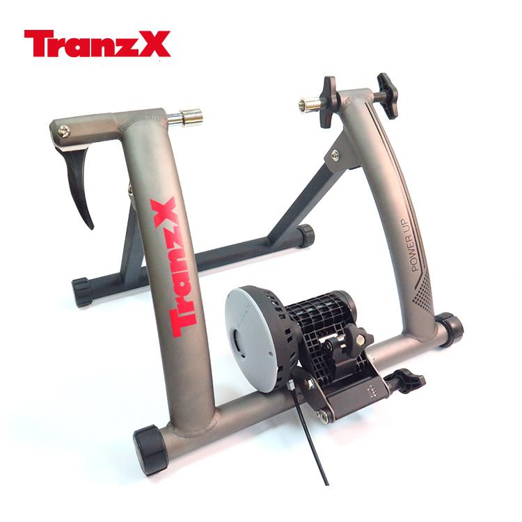 Tranz X JD-128磁阻式訓練台 噴砂灰 城市綠洲 腳踏車.健身車.訓練台.立車架.自行車訓練器