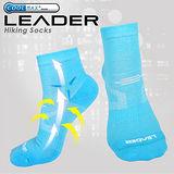 【LEADER】COOLMAX 運動專用薄型除臭機能襪 男款(天藍)