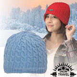 台灣製造【SNOW TRAVEL】3M Thinsulate 頂級素面麻花彈性保暖羊毛帽.毛線帽 AR-18 水藍