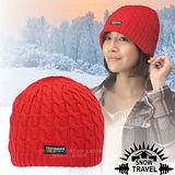 台灣製造【SNOW TRAVEL】3M Thinsulate 頂級素面麻花彈性保暖羊毛帽.毛線帽 AR-18 大紅