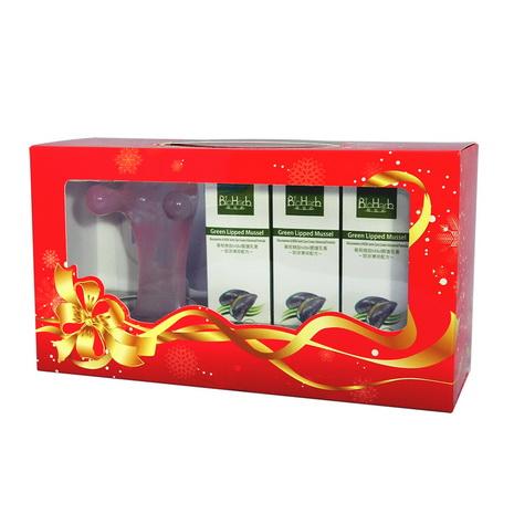 【碧荷柏】葡萄糖胺MSM關護乳膏(綠x3)暖冬關護禮盒組+贈紓壓按摩狗x1