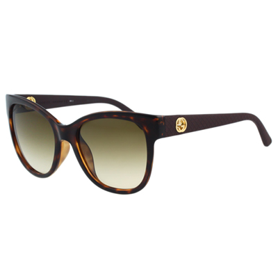 GUCCI-低調復古系列 太陽眼鏡(琥珀色)