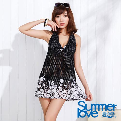 【SUMMERLOVE夏之戀】夢幻連身裙三件式泳衣(E15713)