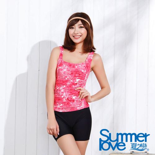 【夏之戀SUMMERLOVE】顯瘦款連身四角泳裝(E15719)