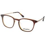 Go-Getter眼鏡 韓版百搭款(棕-金) #GO3004 C02