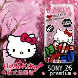 三麗鷗授權正版 Hello Kitty 凱蒂貓 SONY Xperia Z5 Premium 透明軟式保護套 手機殼 (糖果HI)