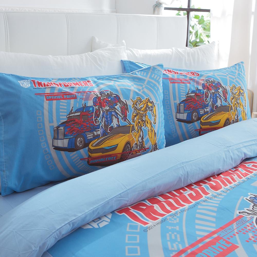 HO KANG 卡通授權 雙人四件式床包被套組-TF仁者無敵