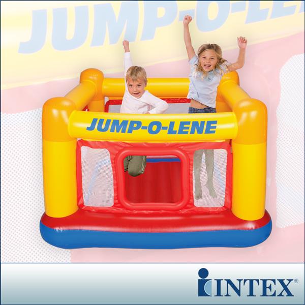 【INTEX】充氣式跳跳床-擂台 JUMP-O-LENE-寬174cm (48260)