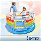 【INTEX】充氣式兒童跳跳床-多彩圓型-寬182cm (48264)